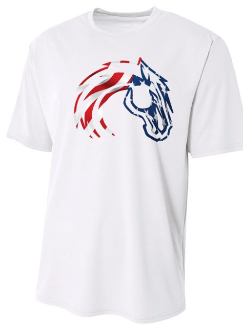 Youth Flag Horse Wicking Tee