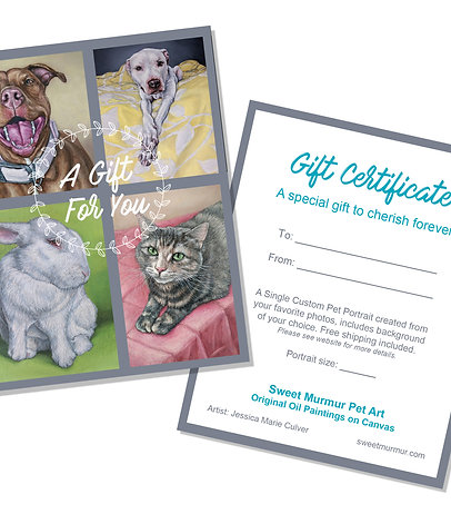 Gift Certificate (Choose Your Size)