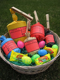 Pyro Easter Basket full of fireworks