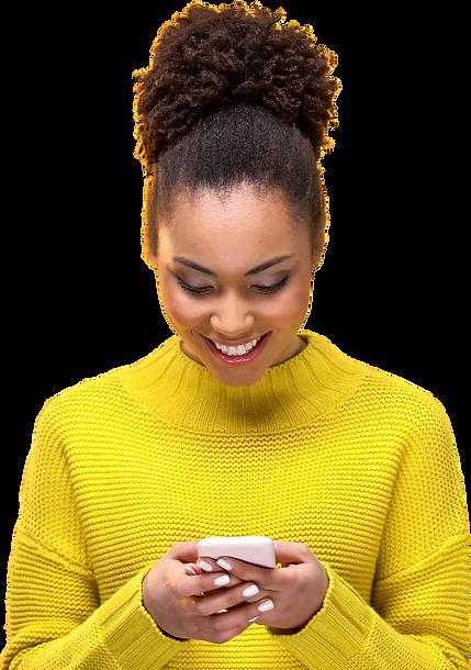 self-service through smart phone