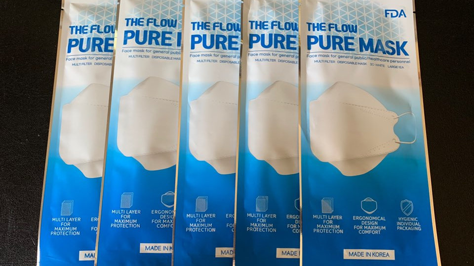 THE FLOW PURE MASK FDA Certified 3D White  / 1Box 1000ea