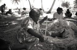 Minji making handicraft outside-Utrik-19