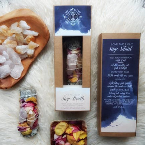 Love and Light Sage Bundle Gift Set
