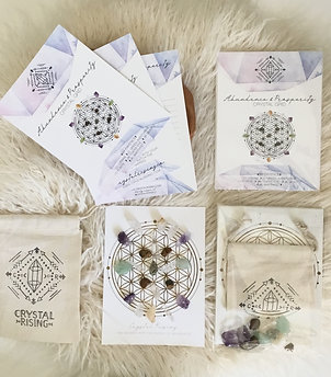 Mini Crystal Grid Manfiesting Abundance Kit
