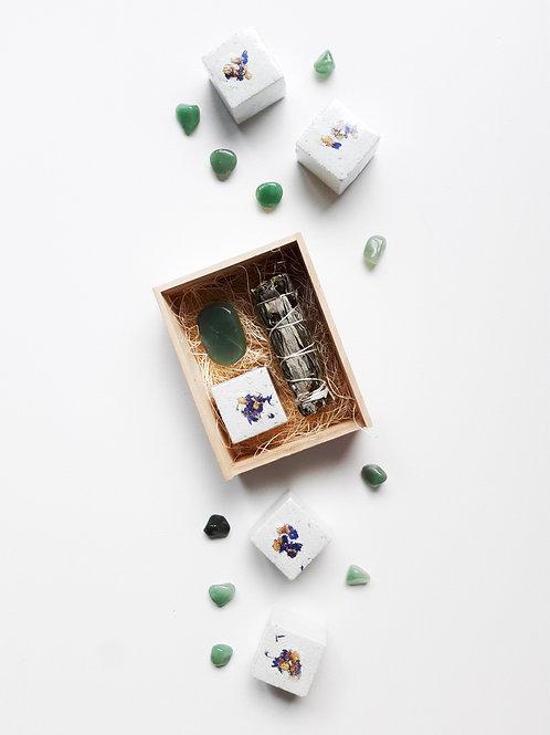 Green Aventurine Bundle Wood Box
