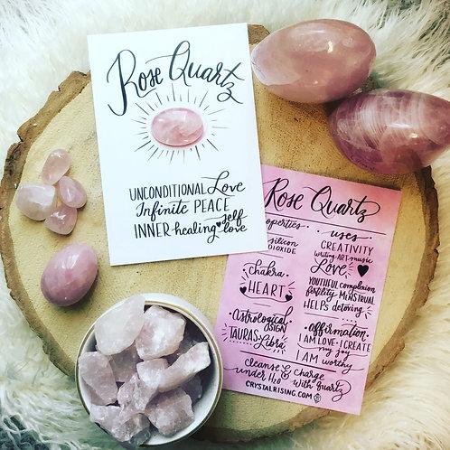 Rose Quartz Crystal Card