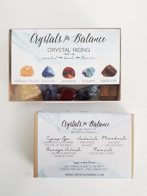 Crystals for Balance Box set