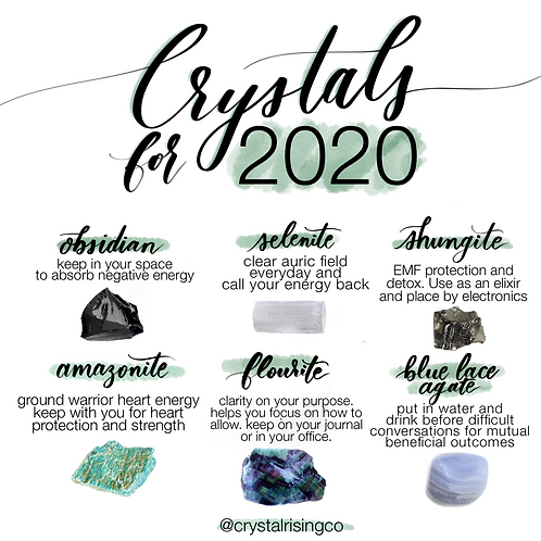 Crystals for 2020
