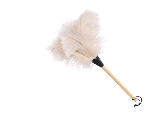 White Ostrich Feather Duster 50cm