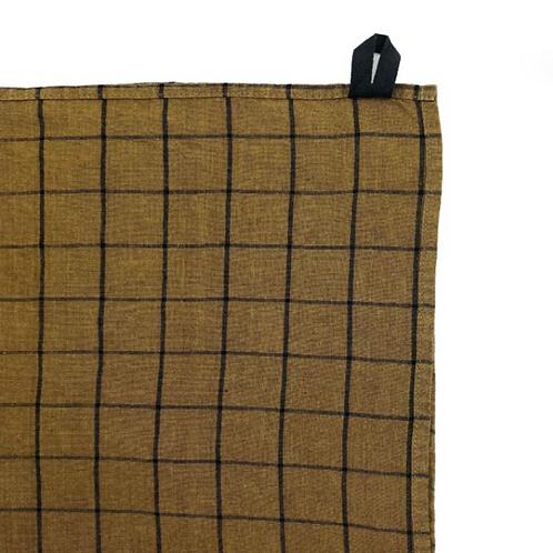 Bronze Check Tea Towel