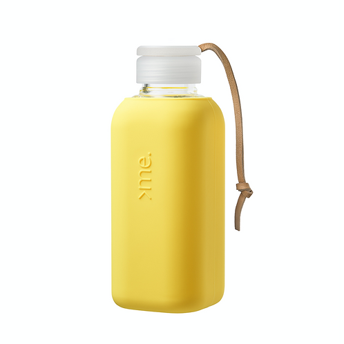 SquireMe Glass Bottle ~ Yellow