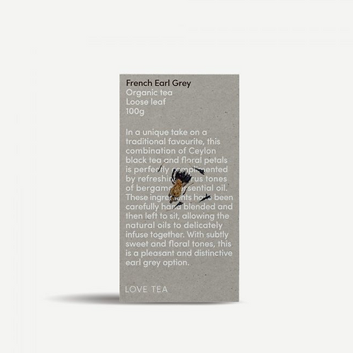 Love Tea ~ French Earl Grey Loose Leaf Tea