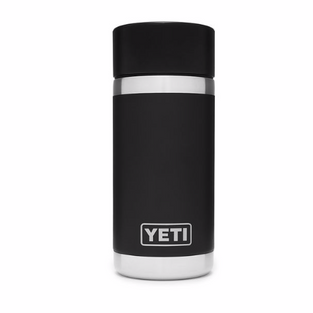 12oz Bottle with Hot Shot Cap - Black