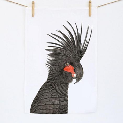 Carlos The Palm Cockatoo Tea Towel