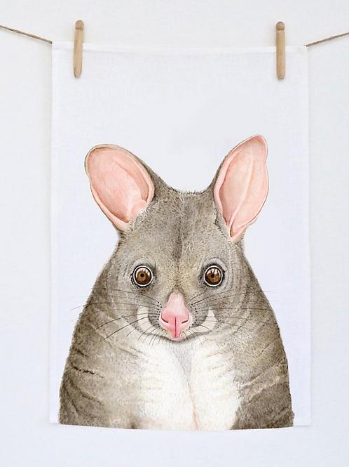 Pat The Possum Tea Towel
