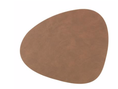 Curve NUPO Table Mat Small ~ Brown 24x28