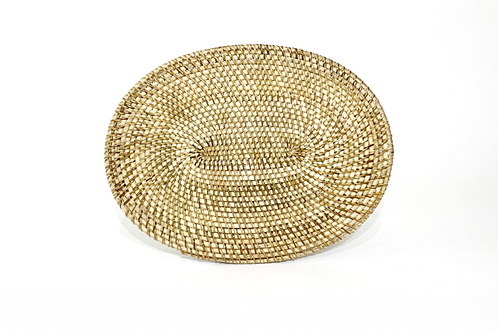Oval Rattan Placemat ~ Natural