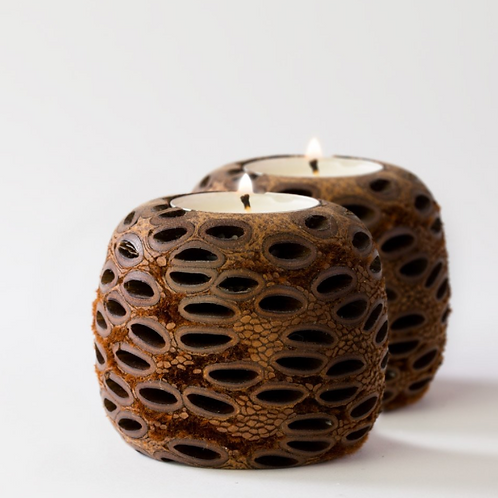 Banksia Tea Light Holder ~ Set of 2