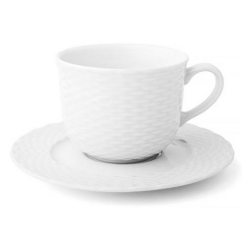 Basketweave Breakfast Cup & Saucer