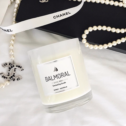 Lime Basil & Mandarin Scented Soy Candle
