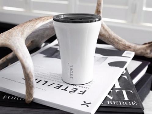 STTOKE Ceramic Reusable Coffee Cup ~ White