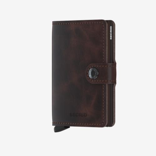 Mini Wallet ~ Vintage Chocolate