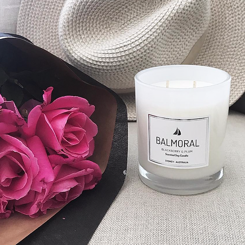 Blackberry & Plumb Scented Soy Candle