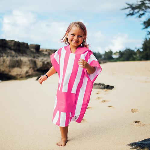 Kids Cabana Poncho 2-4 years ~ Pink