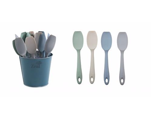 Zeal Mini Silicone Spatula Spoon ~ Assorted Colours