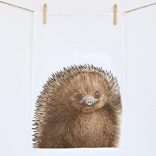 Eddie The Echidna Tea Towel