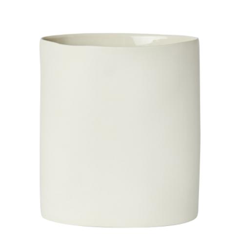 Oval Vase Large Milk