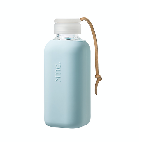 SquireMe Glass Bottle ~ Baby Blue