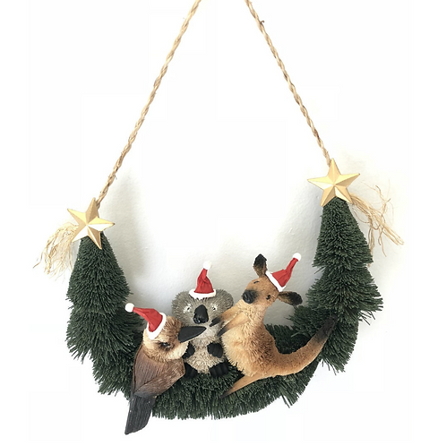 Bristlebrush Australian Animal Door wreath