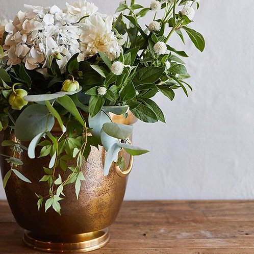 Brass Textured Champagne Bucket