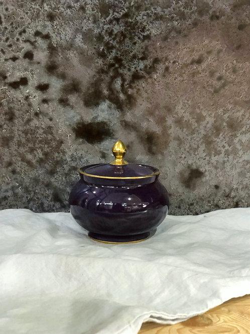 Limoges Plum Sugar Bowl