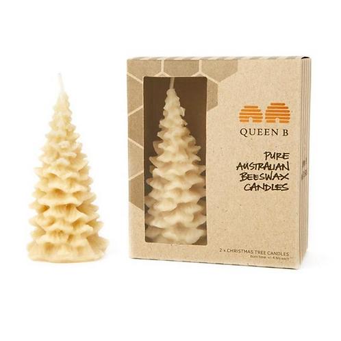 Small Christmas Tree Candle ~ Set of 2