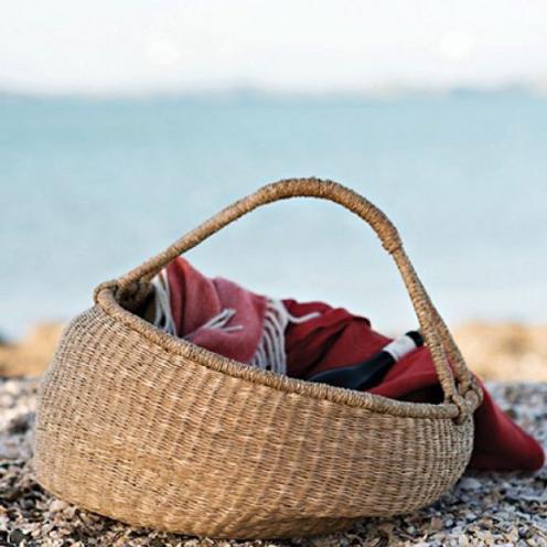 Oversized Slouched Basket ~ Natural