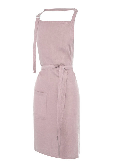 Linen Apron ~ Dusty Pink