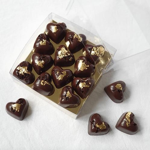Chocolate Hearts with Barberries ~ Dark