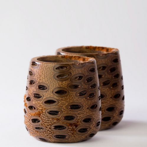 Banksia Votive Tea Light Holder ~ Set of 2