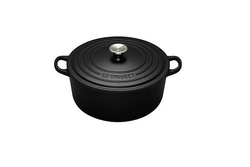 Satin Black 22cm Casserole / 3.3L