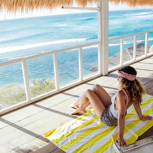 Cabana Beach Towel Large ~ Yellow