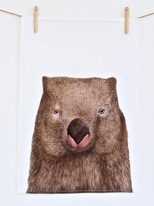 Winston The Wombat Tea Towel