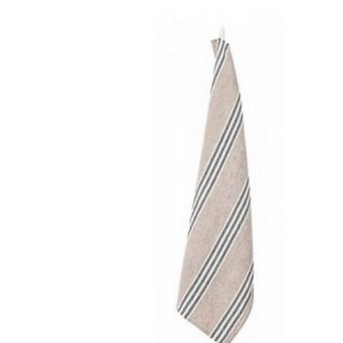 Linen Nude & Black Stripe TeaTowel