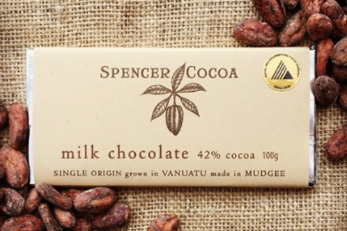 Spencer Cocoa ~ Milk Chocolate Bar