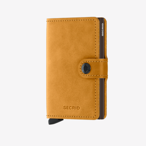 Secrid Mini Wallet ~ Vintage Ochre