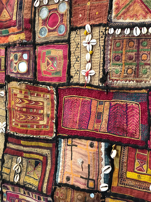 Vintage Indian Patchwork Wall Tapestry