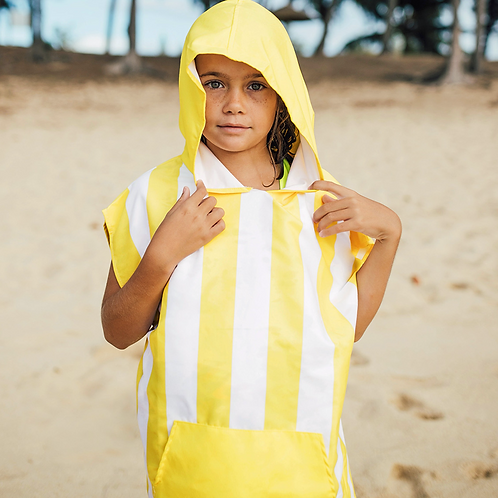 Kids Cabana Poncho 2-4 years ~ Yellow