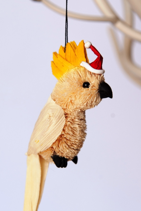 Bristlebrush Cockatoo Hanging Ornament