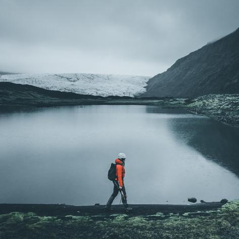 Walking to the Glacier
